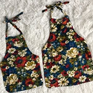 Handmade mommy & me kitchen aprons